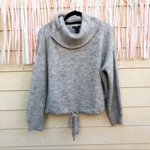 HM Gray Cowl Neck Sweater